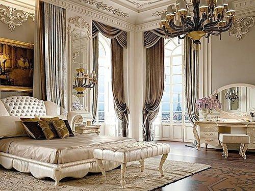 Античный стиль интерьера спальни