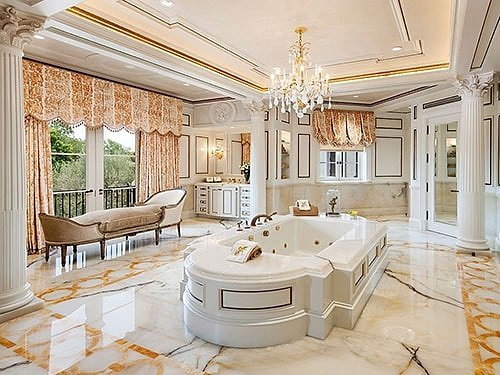Античный стиль интерьера ванной