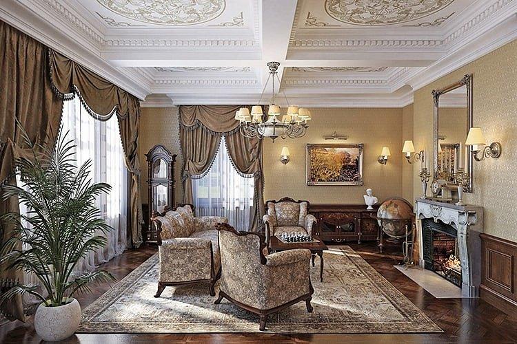 Гостиная в стиле Ренессанс