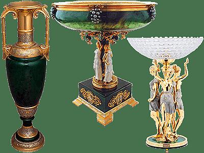 Интерьерные вазы и чаши