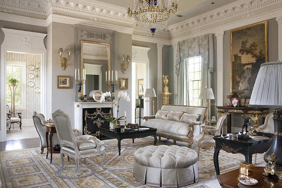 Интерьер гостиной в стиле Классицизм