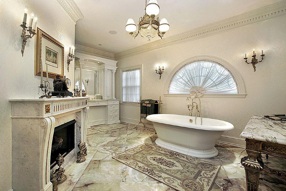 Интерьер ванной в стиле Классицизм